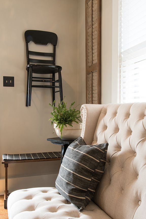 Stacy Strode S Home Renovation Made Way For More Decor Such As Treasured Antique Spools