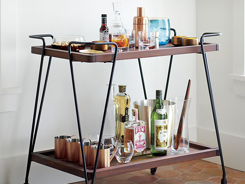 Bar Carts: Stocking and Styling