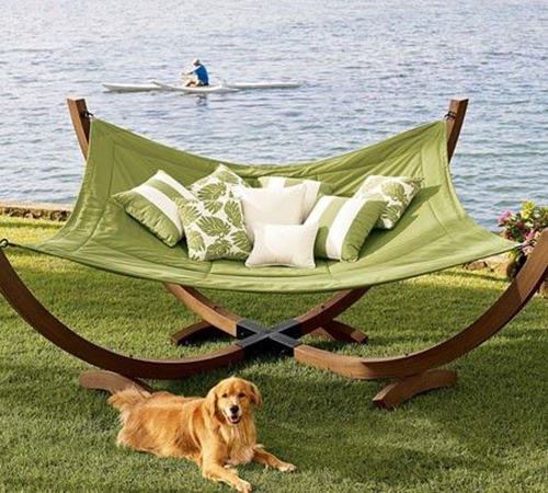 ... making a statement with a hammock in a bold pattern, bright color or unique material. Which of these hammocks would you love to have in your backyard?