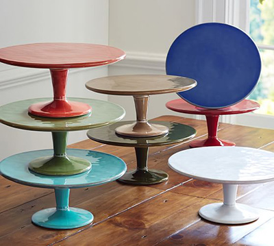 cake stands from Pottery Barn come in a variety of colors. The cake ...