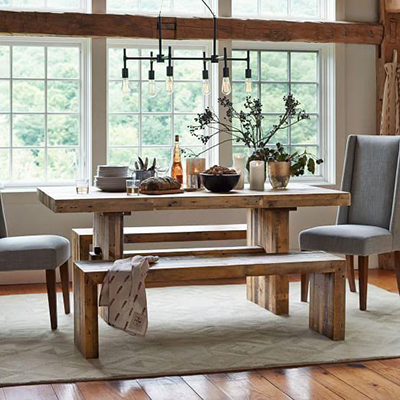 Friday Favorites Rustic Farmhouse Tables ST LOUIS HOMES LIFESTYLES - Natural wood farm table