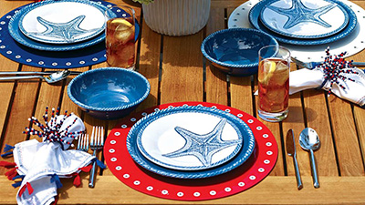 U201cI Love Festive, Colorful Mix And Match Outdoor Dinnerware, Especially When  Itu0027s Dishwasher Safe! The Beautiful, Handmade Look Of These Plates Is  Perfect On ...