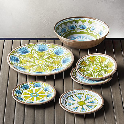 u201cI love festive colorful mix-and-match outdoor dinnerware especially when itu0027s dishwasher safe! The beautiful handmade look of these plates is perfect on ... & Friday Favorites: Outdoor Dinnerware | ST. LOUIS HOMES u0026 LIFESTYLES